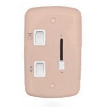 Interruptor Dimmer Deslizante p/ Ventilador de teto c/ Lâmpada 4x2 Rosa (Bivolt)