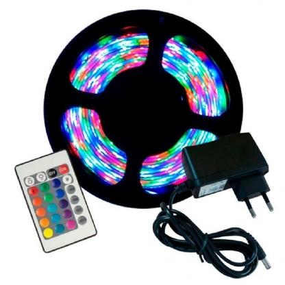 Kit Fita de LED RGB 5MT Completo
