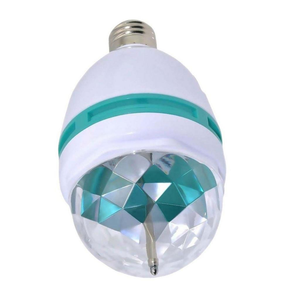 Lâmpada de Led RGB Giratória - E-27