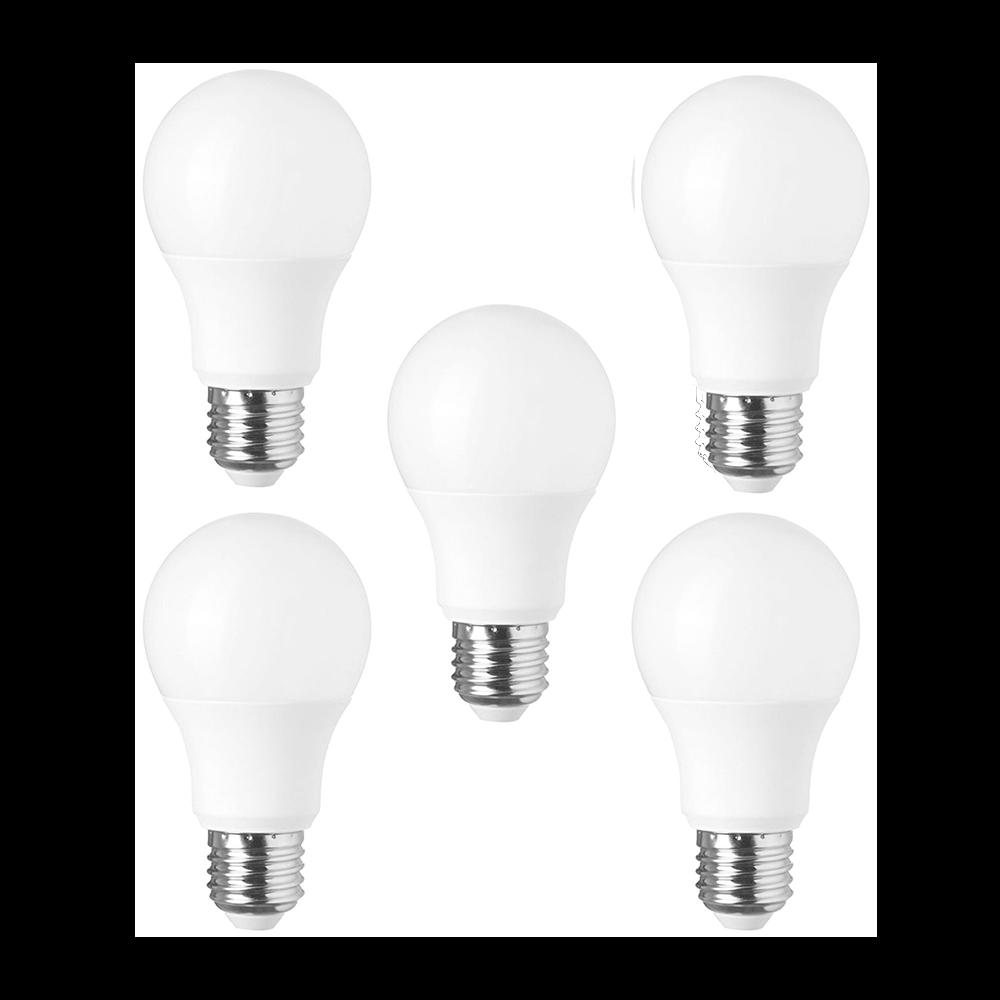 Lâmpada Super LED A60 8W Bulbo 6000K E-27 - (5 Pçs)
