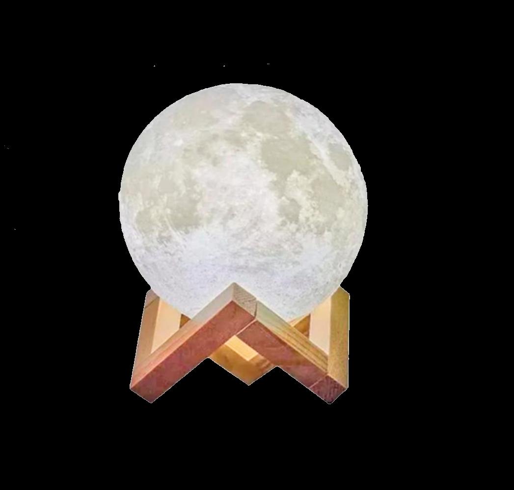 Luminária e Umidificador LED Lua 3D - Cores Neutras