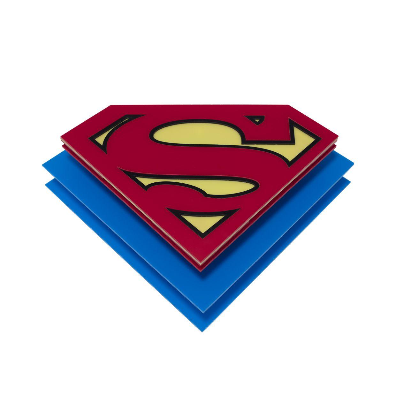 Luminária Plafon Infantil Super Homem 15x30x38cm