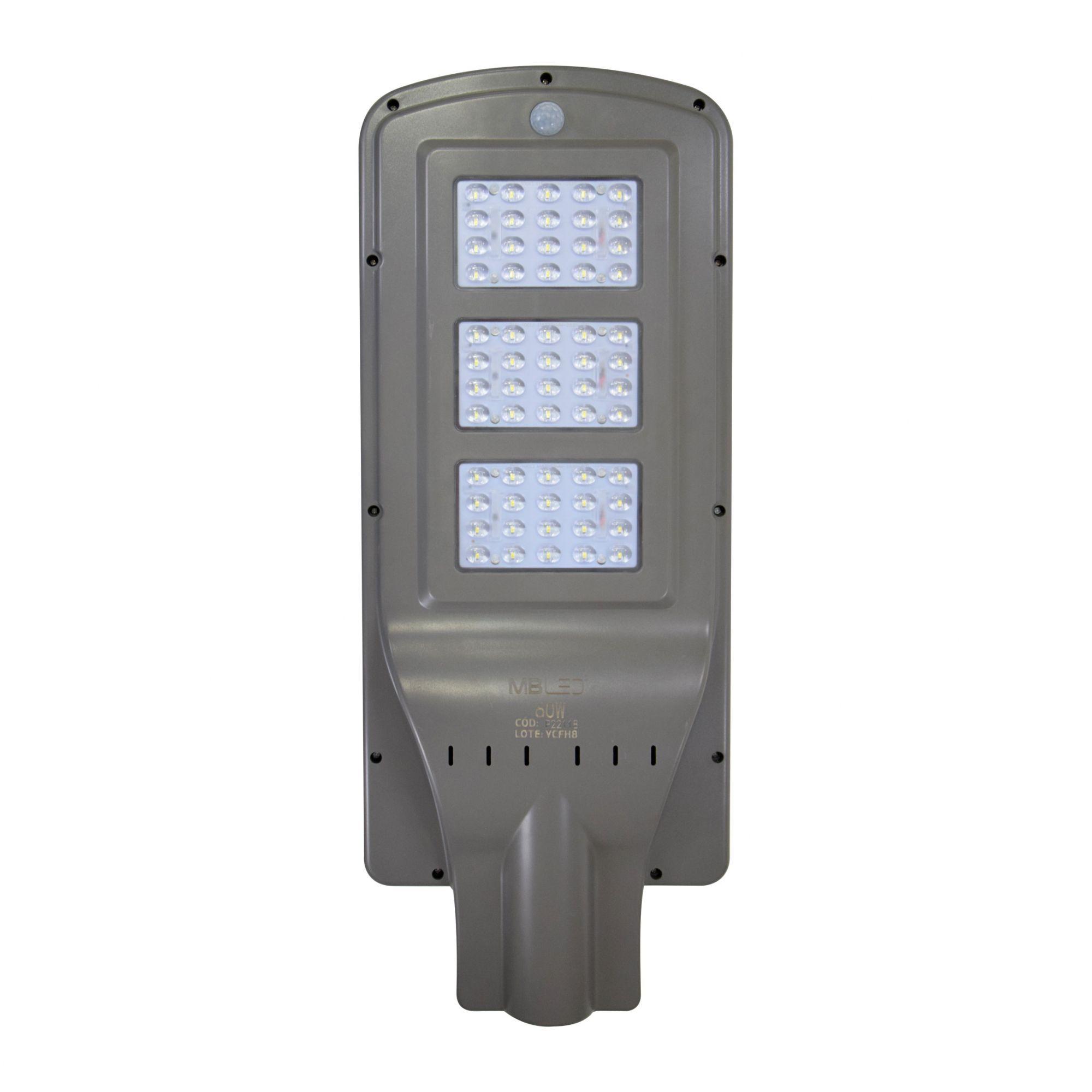Luminária Pública LED Solar 60W 6500K p/ Poste - MB LED