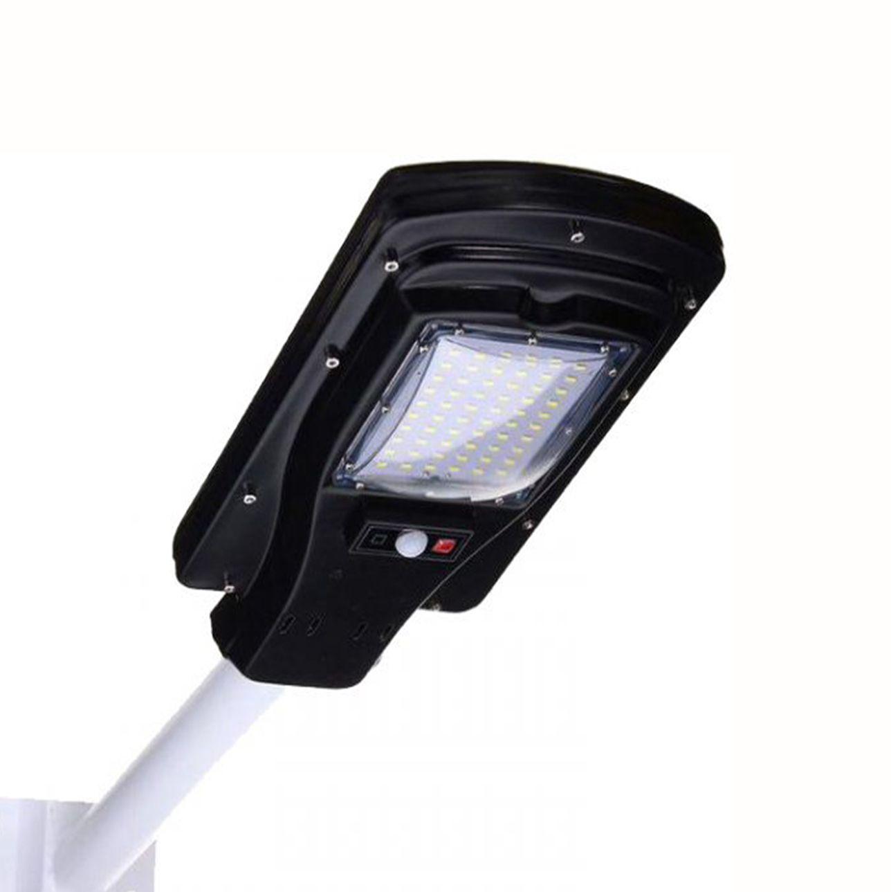 Luminária Pública Solar LED p/ Poste c/ Controle Remoto 30W 6.000K- Preto