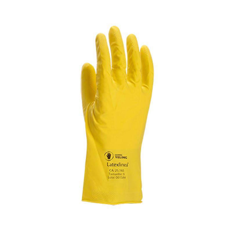 Luva de Látex Amarela GG 10 - Yeling
