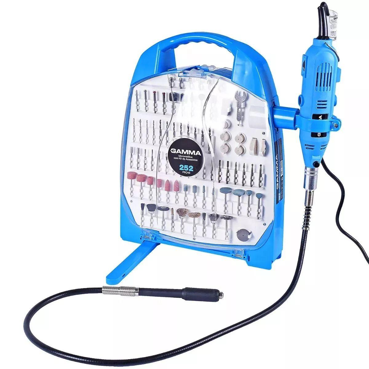 Micro Retifica 130W c/ chicote 252 pç G19502 - Gamma (110V)