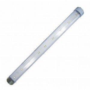 Mini Lâmpada Tubular 30cm 6000K c/ 9 LEDs SMD 12/24V - DNI (Bivolt)