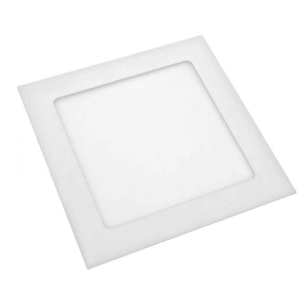 Painel de LED 16,5x16,5 p/ Embutir Quadrado 6000K - 12W (Bivolt)