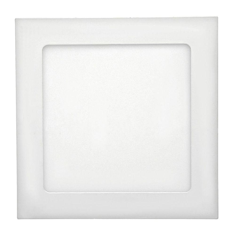 Painel de LED 22x22 p/ Embutir Quadrado 6500K - 18W (Bivolt)