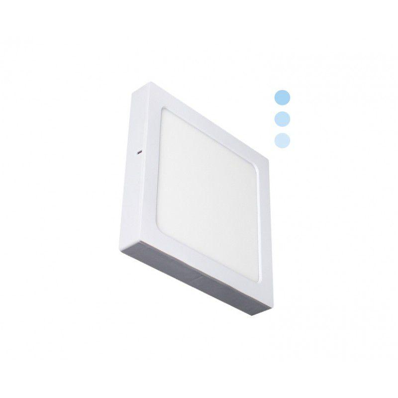 Painel de LED 2 em 1 Quadrado Tripla Intensidade 6500K 22W - Ecoforce (Bivolt)