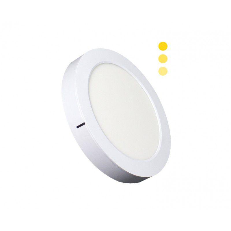 Painel de LED 2 em 1 Redondo Tripla Intensidade 3000K 22W - Ecoforce (Bivolt)