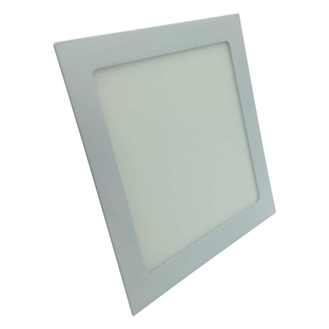 Painel de LED Embutir Quadrado 3000K - 18W (Bivolt)