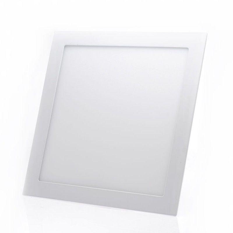 Painel de LED Embutir Quadrado 3000K - 24W (Bivolt)