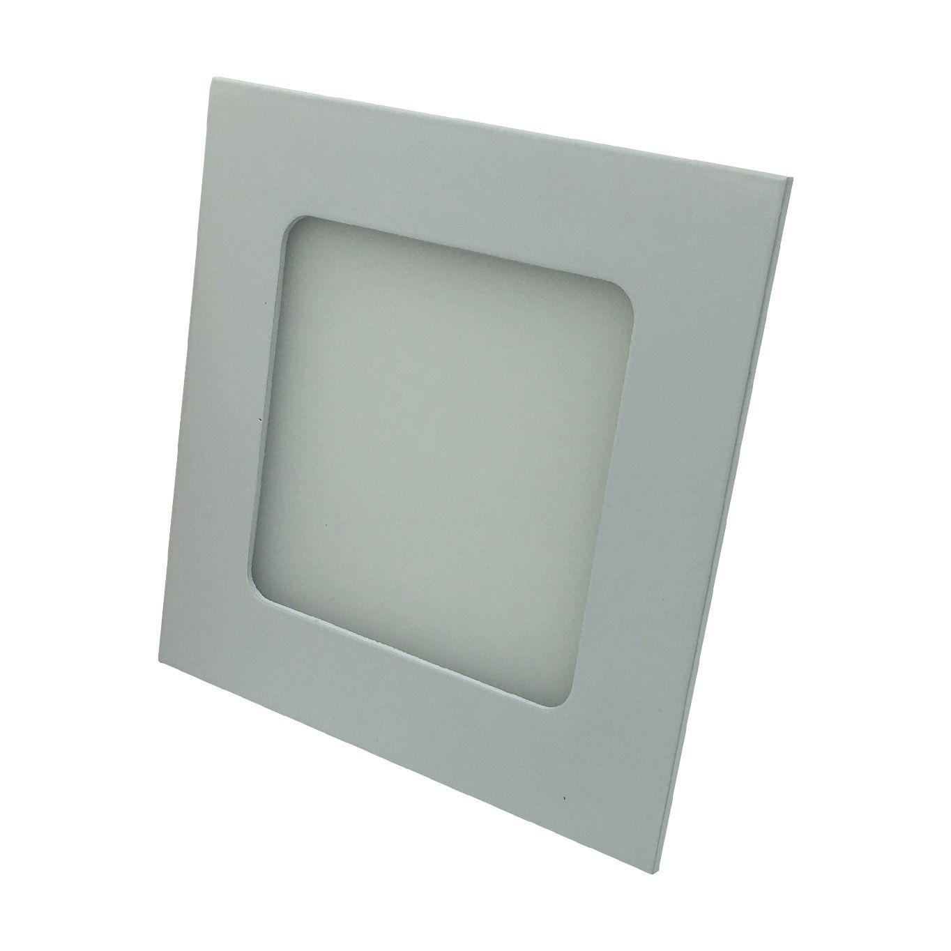 Painel de LED Embutir Quadrado 3000K - 3W (Bivolt)