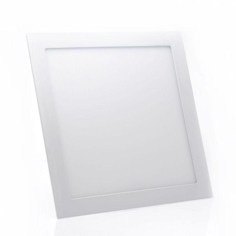 Painel de LED Embutir Quadrado 6000K - 24W (Bivolt)