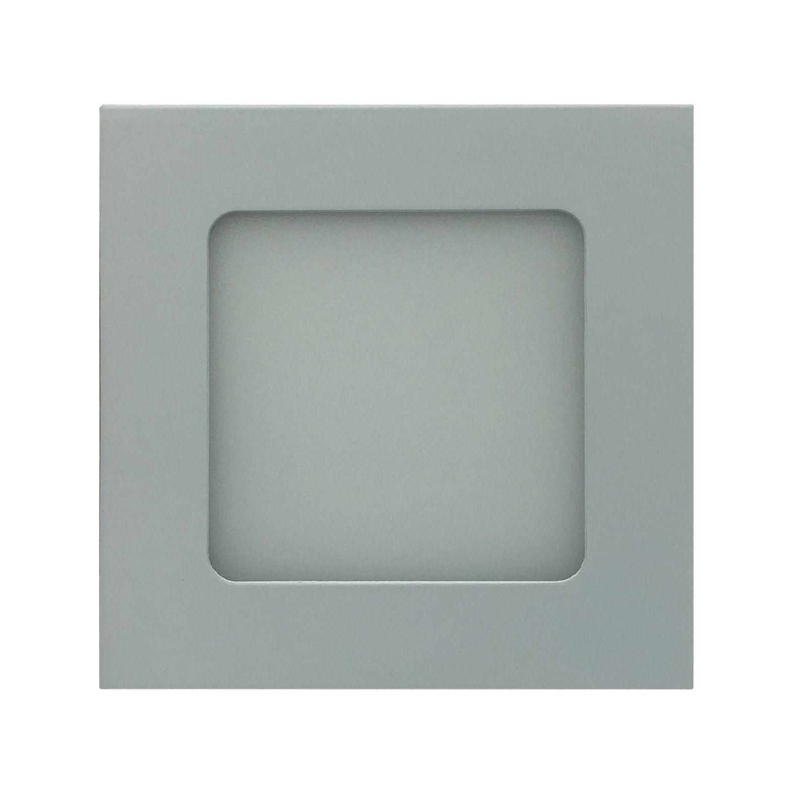 Painel de LED Embutir Quadrado 6000K - 3W (Bivolt)