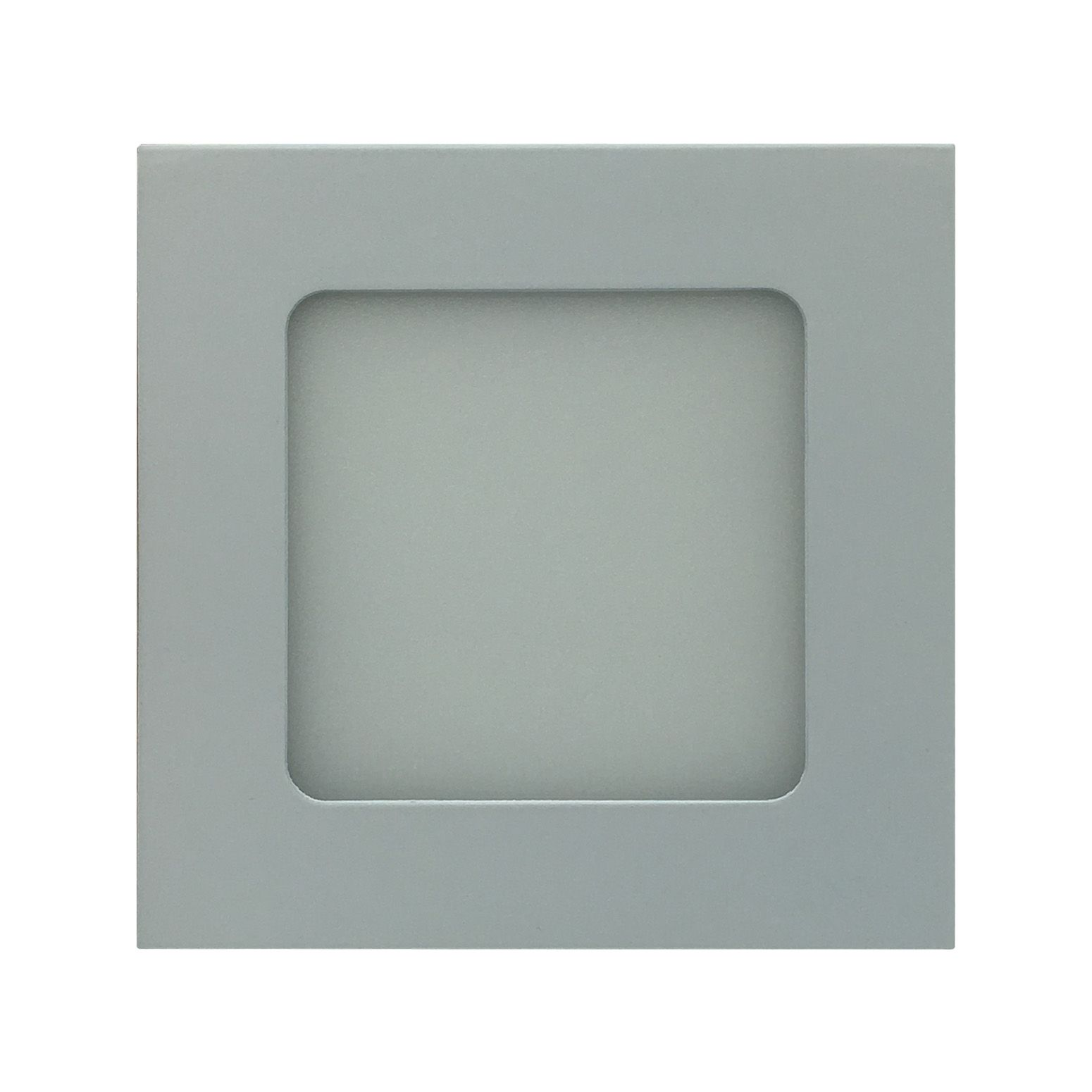 Painel de LED Embutir Quadrado 6000K - 6W (Bivolt)
