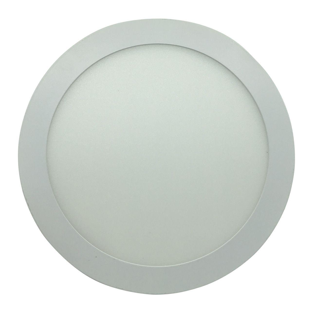 Painel de LED Embutir Redonda 4000K - 18W
