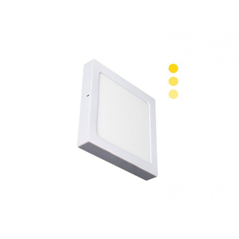Painel de LED Quadrado 2 em 1 Tripla Intensidade 3000K 16W - Ecoforce (Bivolt)