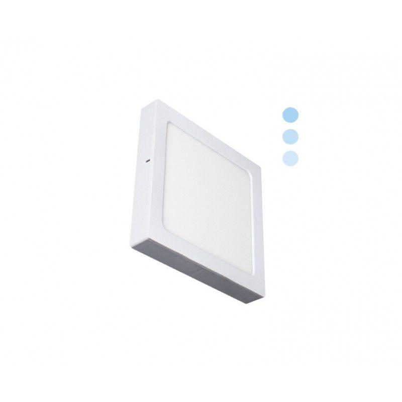 Painel de LED Quadrado 2 em 1 Tripla Intensidade 6000K 16W - Ecoforce (Bivolt)