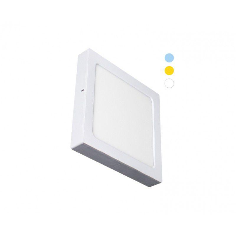 Painel de LED Quadrado 2 em 1 Tripla Tonalidade 22W - Ecoforce (Bivolt)