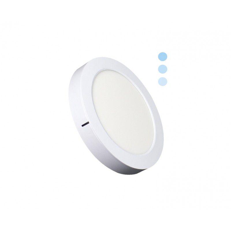 Painel de LED Redondo 2 em 1 Tripla Intensidade 6500K 16W - Ecoforce (Bivolt)
