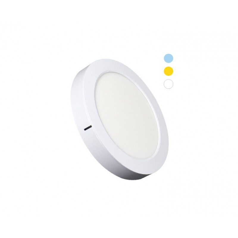 Painel de LED Redondo 2 em 1 Tripla Tonalidade 16W 3000k - Ecoforce (Bivolt)
