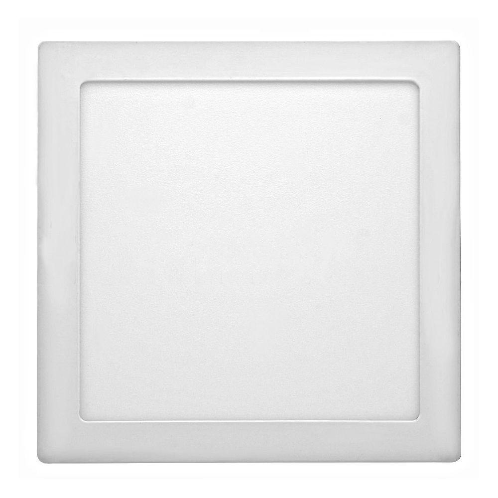Painel de LED Sobrepor Quadrada 3000K - 18W