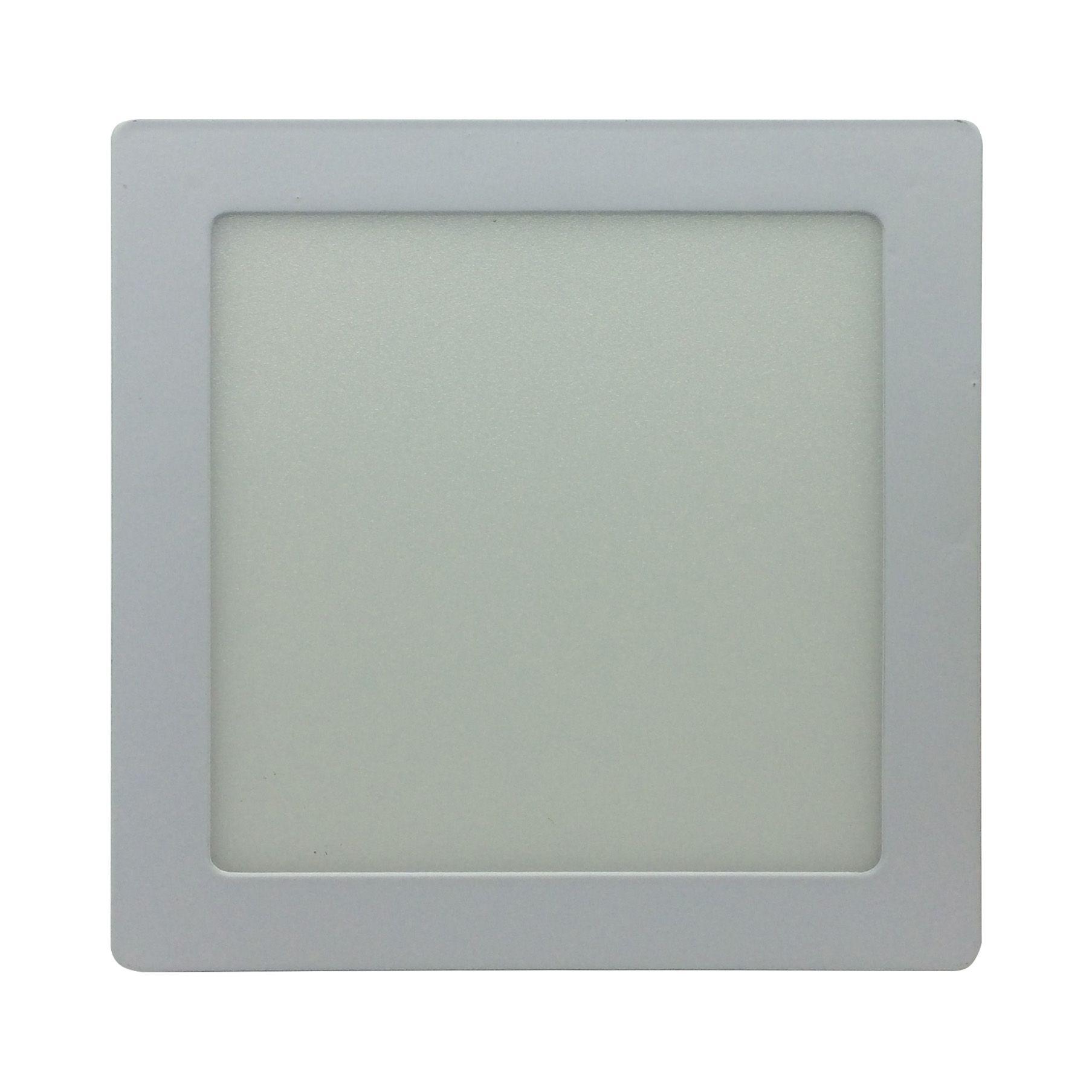 Painel de LED Sobrepor Quadrada 6000K - 12W