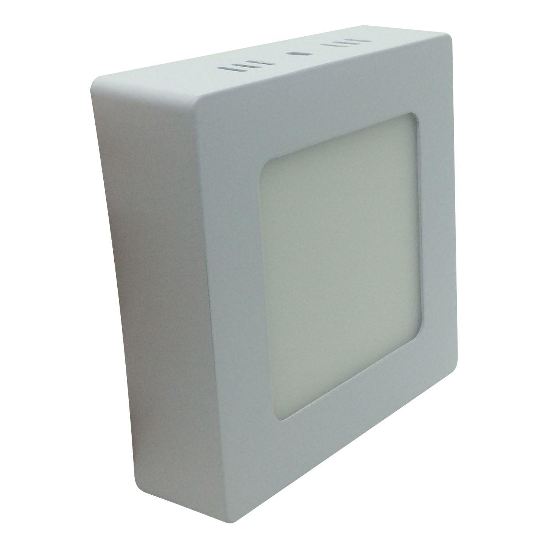 Painel de LED Sobrepor Quadrada 6000K - 6W