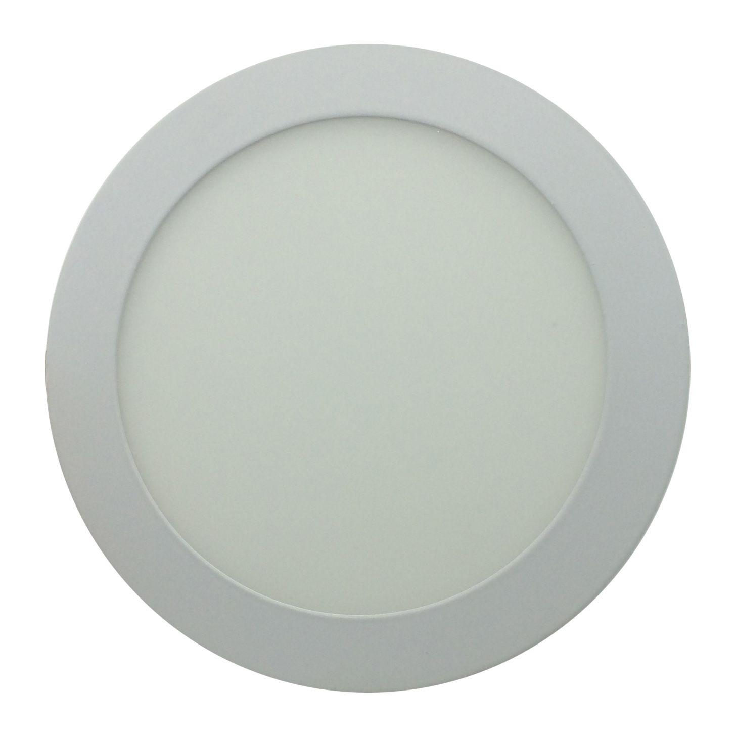 Painel de LED Sobrepor Redonda 3000K - 12W