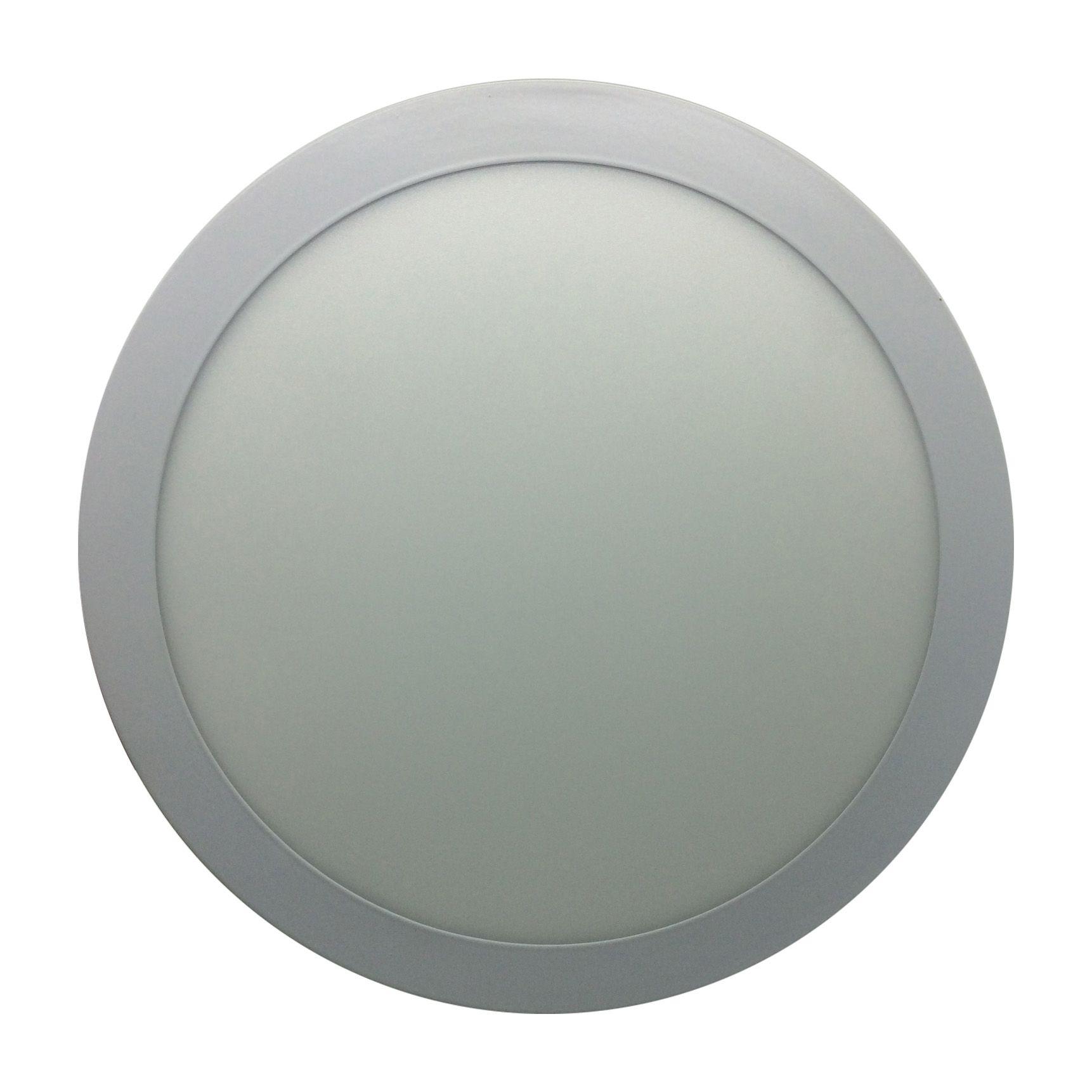 Painel de LED Sobrepor Redonda 3000K - 18W