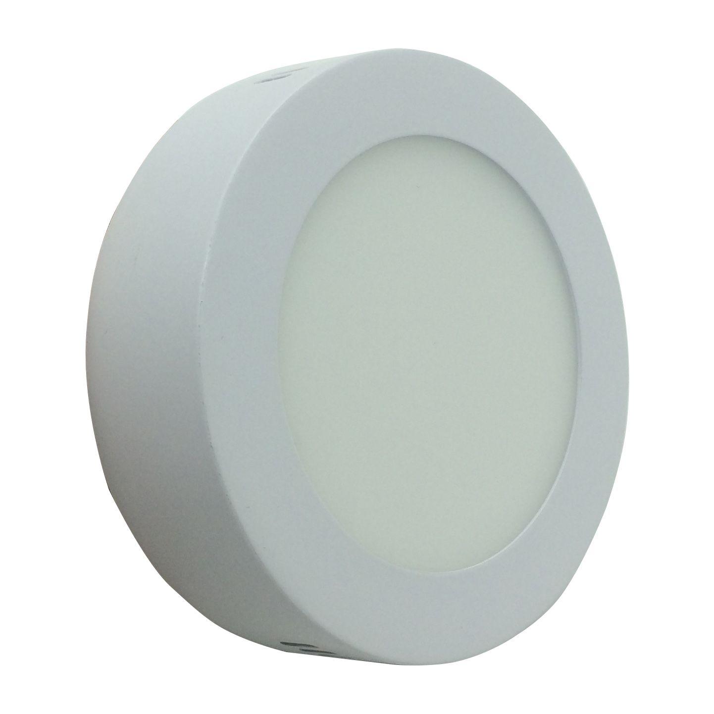 Painel de LED Sobrepor Redonda 6000K - 6W