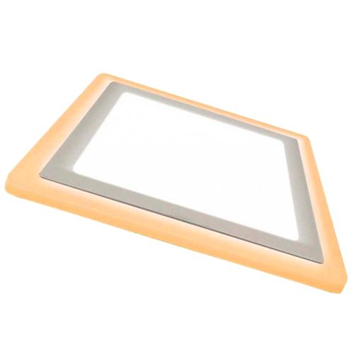 Painel Embutir LED Qadrado Dual Color 18W+6W 6000K/3000K - Taschibra - (Bivolt)