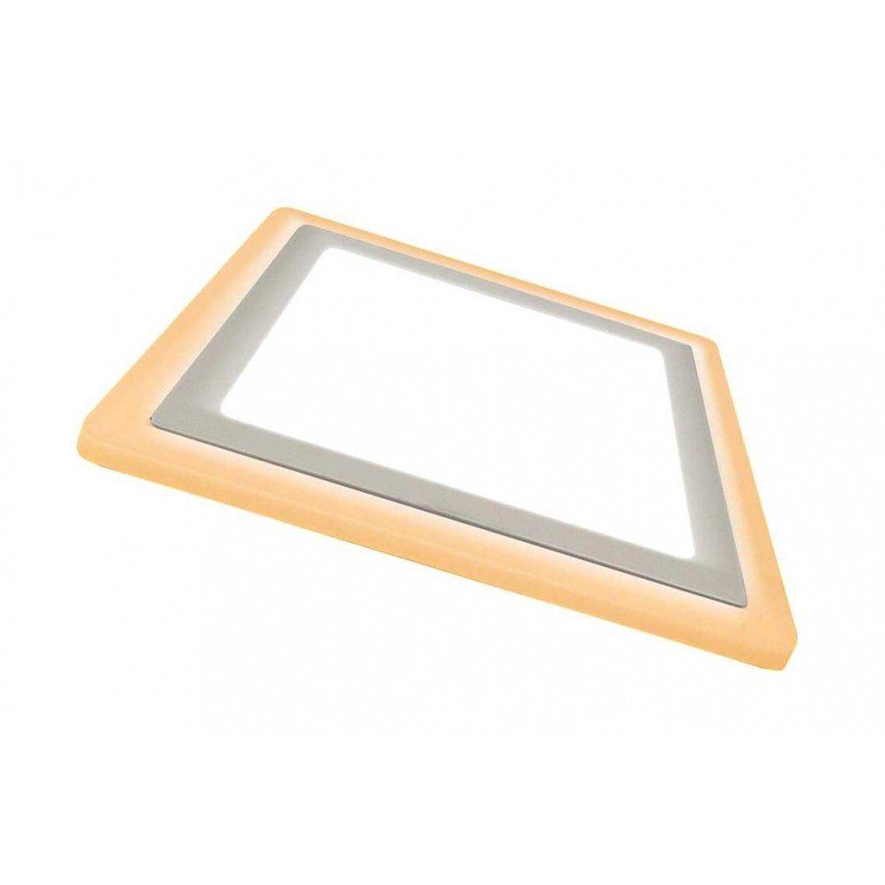 Painel Embutir LED Quadrado Dual Color 12W+4W 6000K/3000K - (Bivolt)