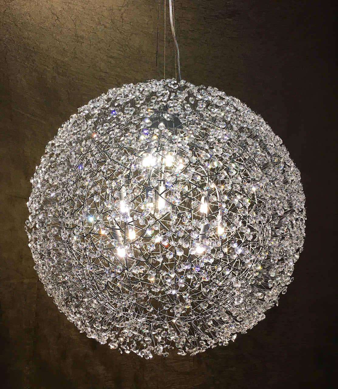 Pendente Bola de Cristal 80x80cm