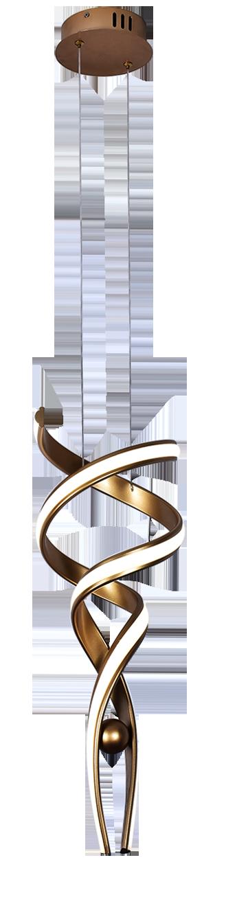 Pendente Metal e Silicone Dourado Led
