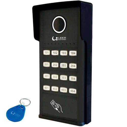 Porteiro Coletivo Smart RFID 16 Pontos LR816R (Preto) - Líder
