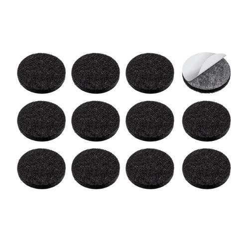 Protetor adesivo de velcro 22mm redondo - preto (20un)