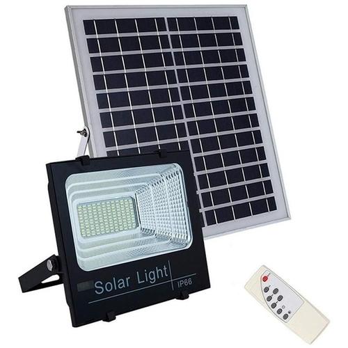 Refletor LED Solar c/ Controle Remoto - Preto