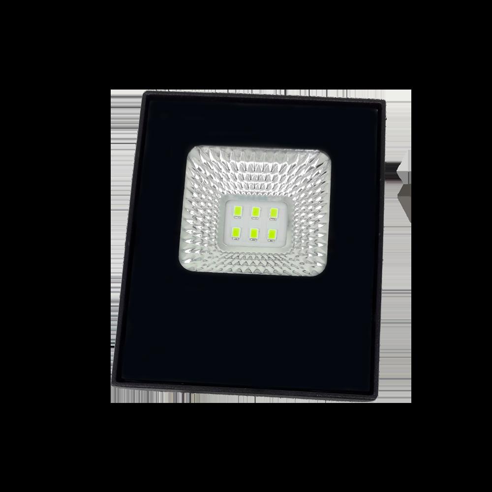 Refletor Preto Super LED 20W Verde