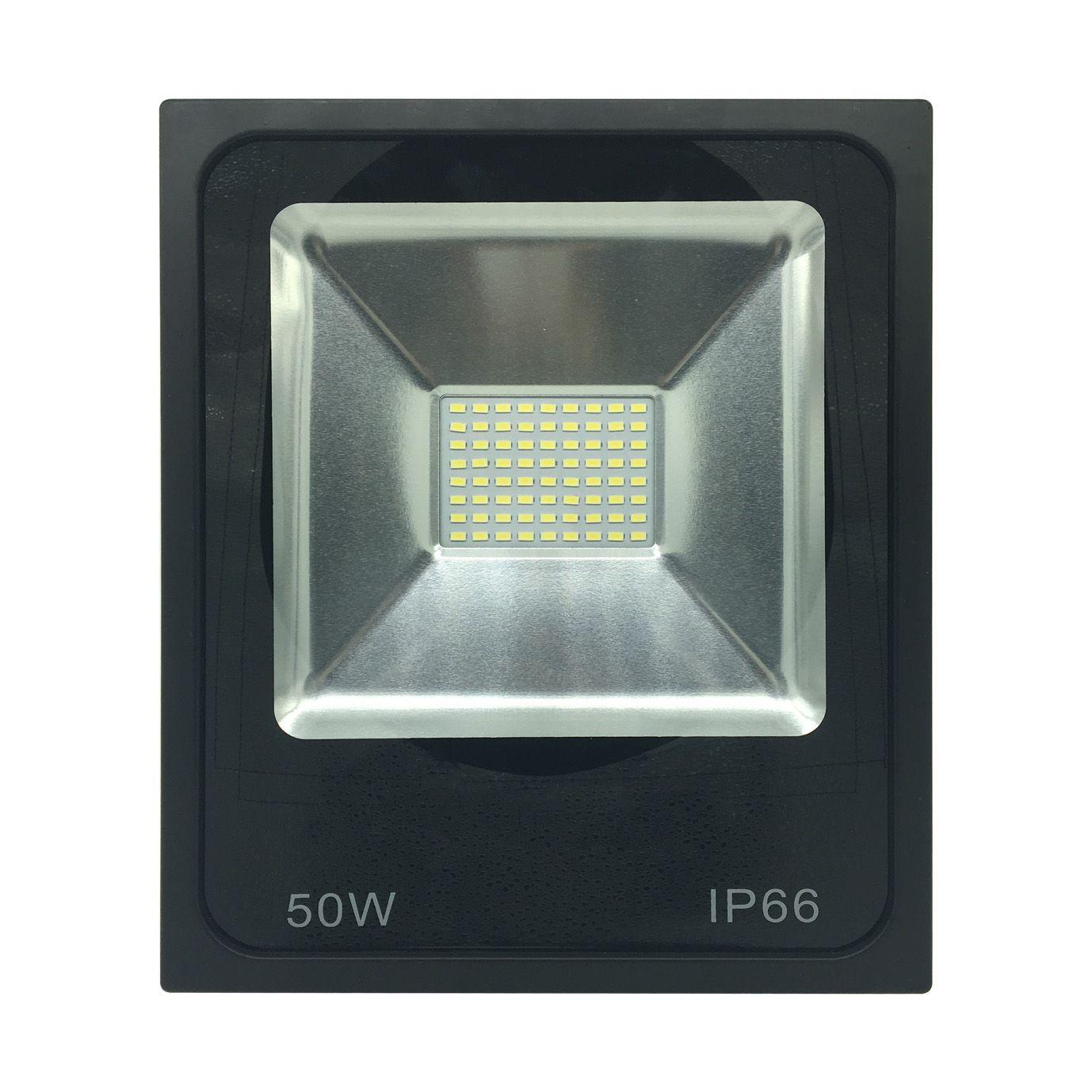 Refletor Preto Super LED 50W - 6000K (Bivolt)