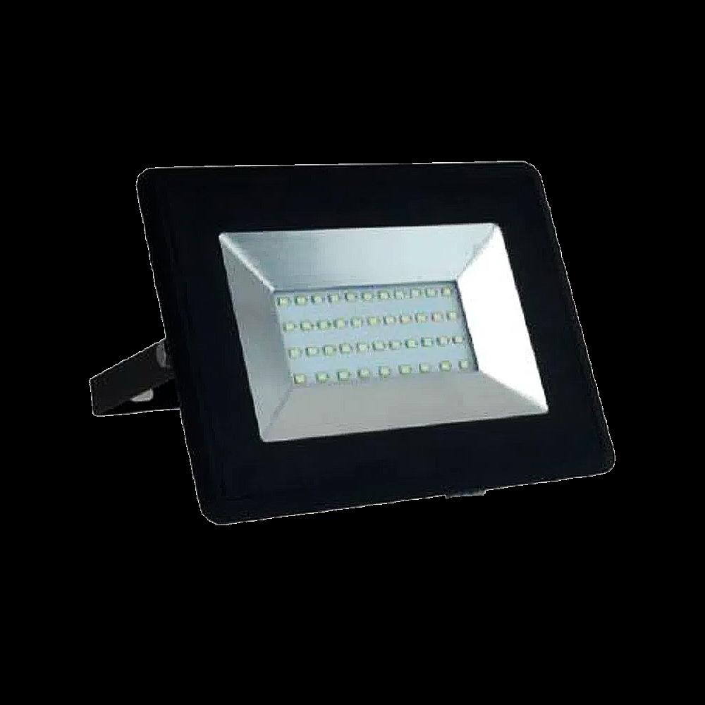 Refletor Super LED 50W 3000K Preto
