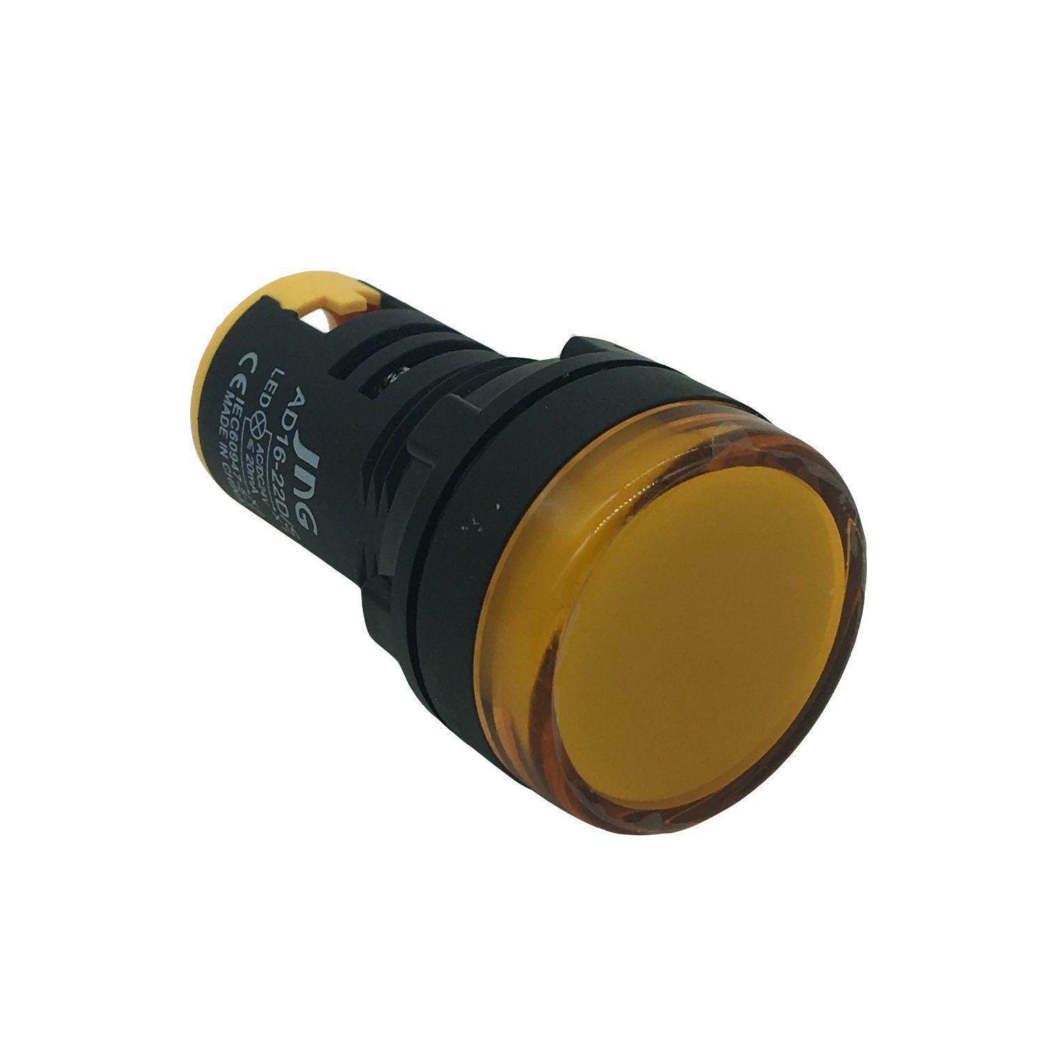 Sinaleiro LED 22mm Amarelo AD16 - JNG (24V)
