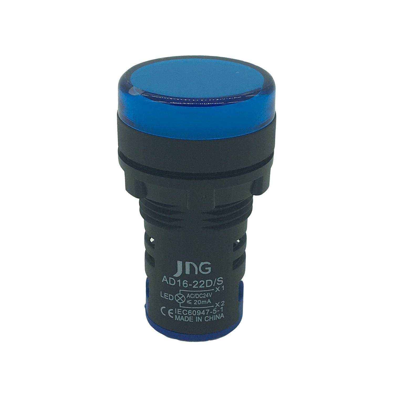Sinaleiro LED 22mm Azul AD16 - JNG (24V)