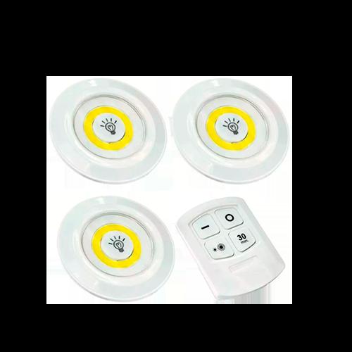 Spot de LED Sobrepor 3 Luminárias C/ Controle