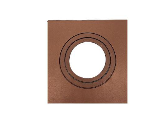 Spot Embutido Dicróica Quadrado c/ Face Plana em Cobre Metálico - Save Energy