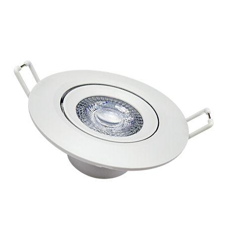 Spot LED Redondo de Embutir 5W 3000K -(Bivolt)