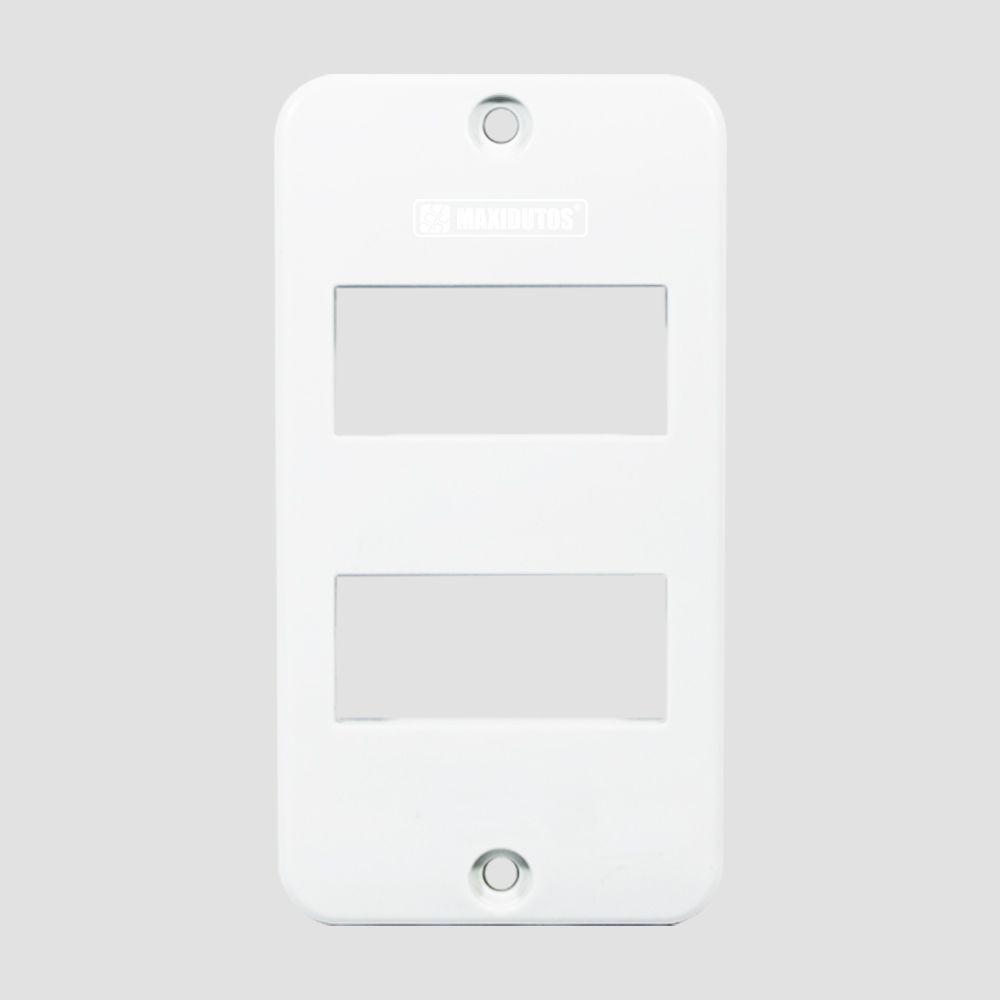 Tampa para Condulete 2 Teclas 1/2- 3/4- PVC Branco - Maxidutos