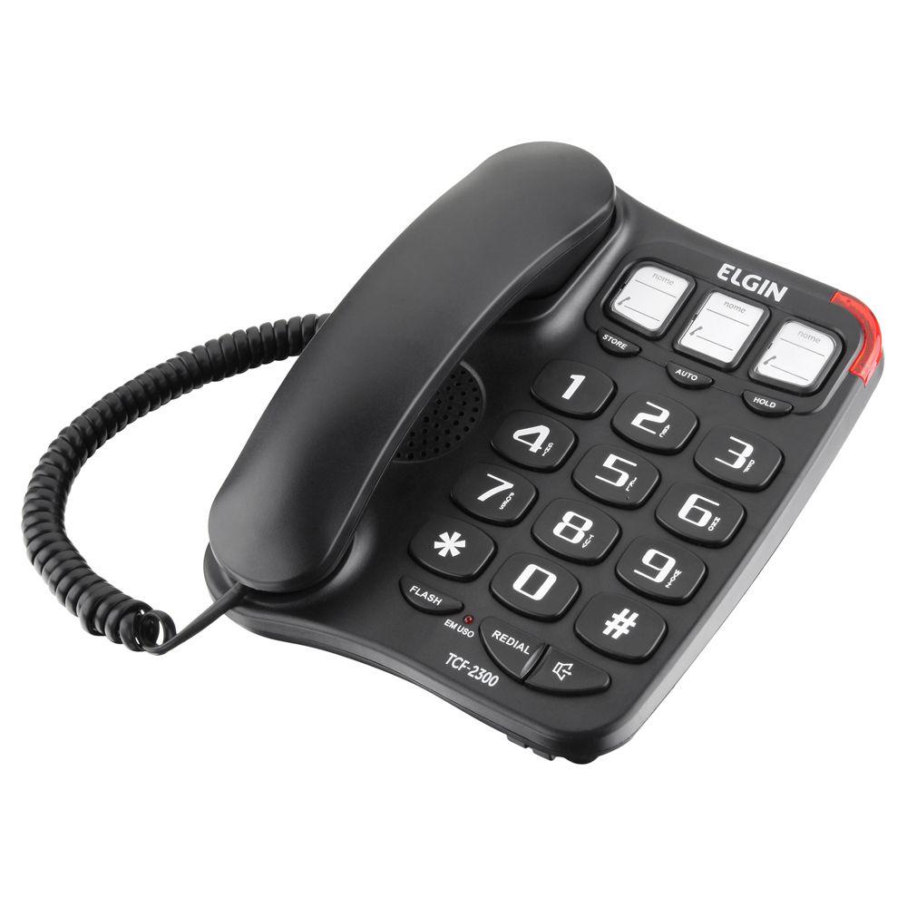 Telefone c/ Fio, Teclas Grandes e Viva-Voz TCF 2300 - Elgin